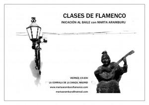 cartel clases viernes foto
